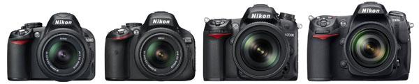 Nikon DX DSLR Lineup